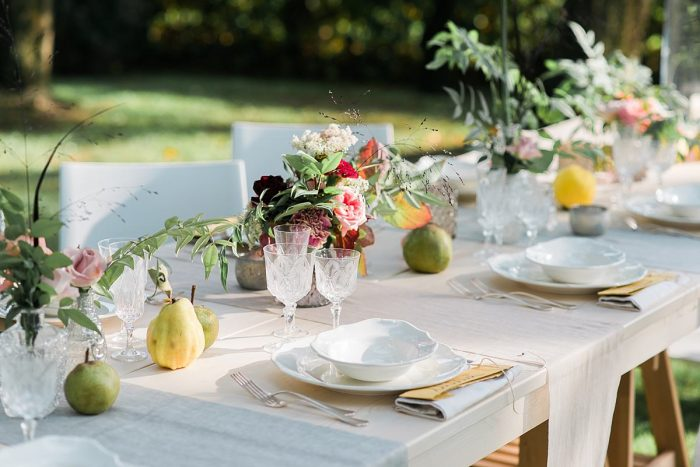 Wedding Inspiration: Fall reception in the garden