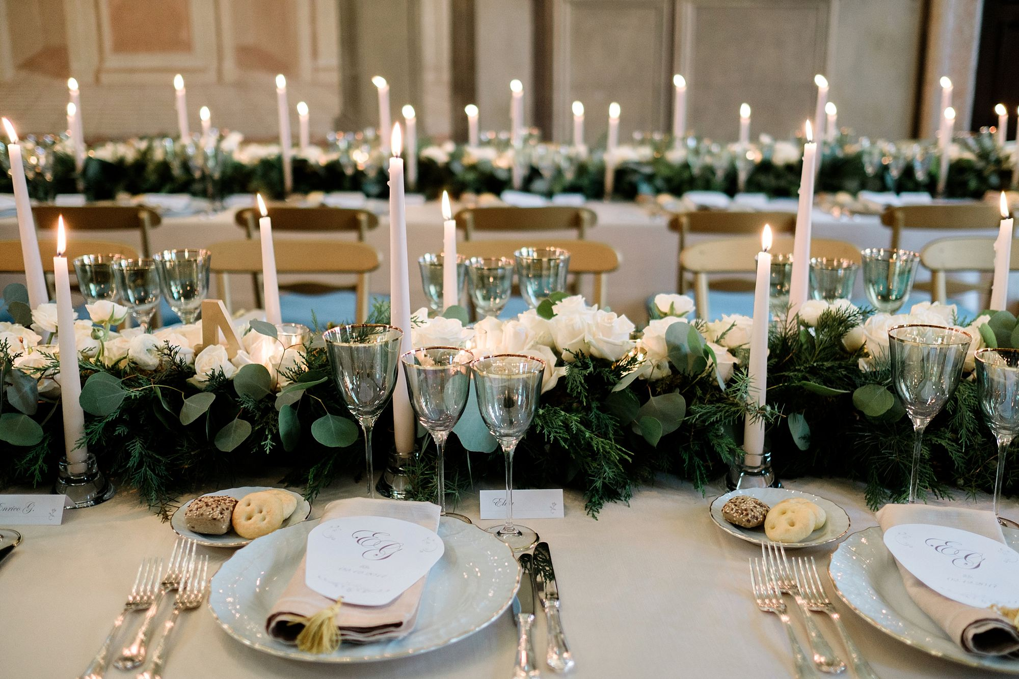 Christmas wedding with Galateo catering