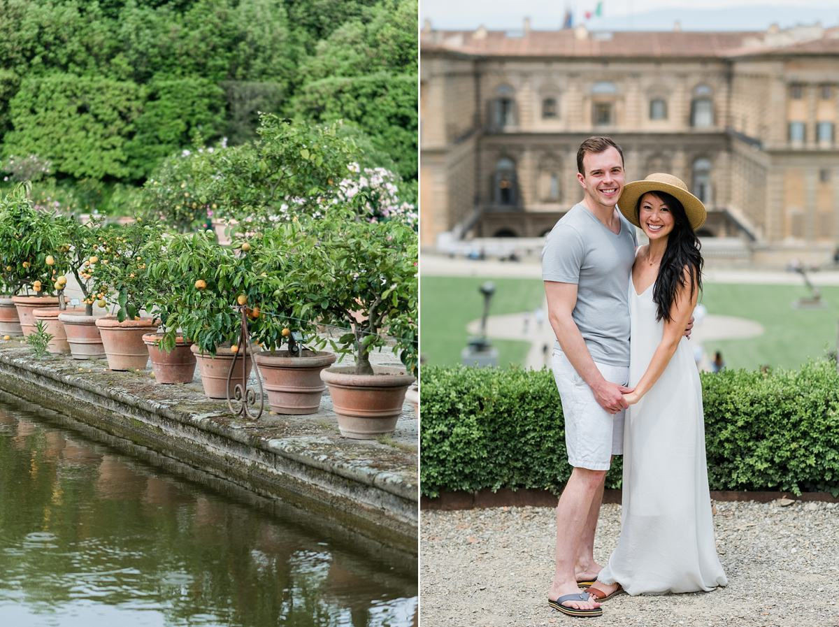 Engagement session in Boboli Garden