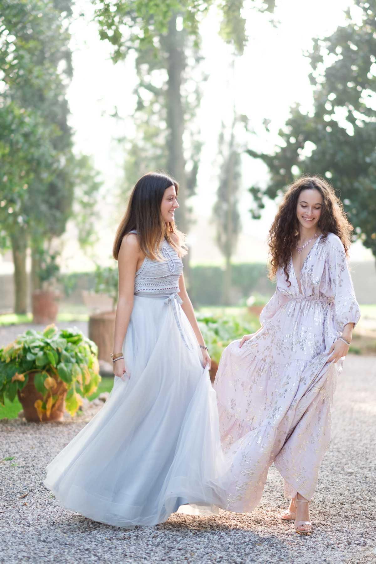Sfilata di abiti di Dolcera a Villa dei Cipressi a Verona