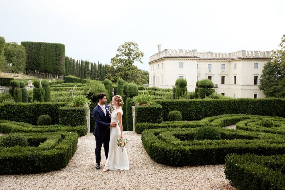 Foto di Matrimonio a Villa Rizzardi con coppia di sposi